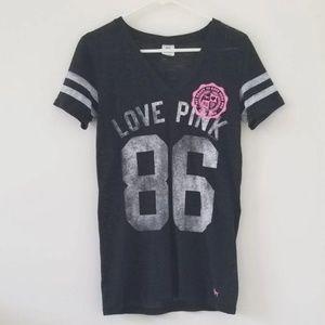 Victoria's Secret PINK Black Vneck Shirt